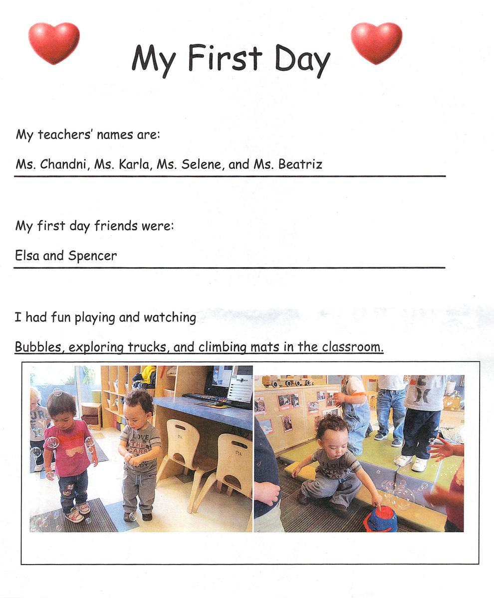 My First Day of Daycare! : Cedro-Masanoriu0026#39;s Blog