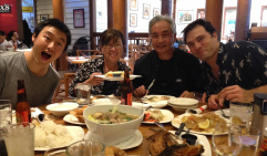 Lola + Lolo with their Sons-in-Law at my special family bday dinner at Max's