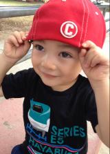 Wearing Lolo's C Cap